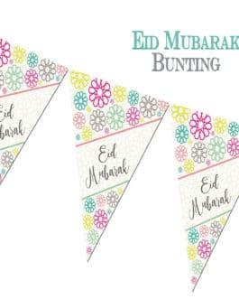 Eid Mubarak Bunting Geo by Islamic Moments