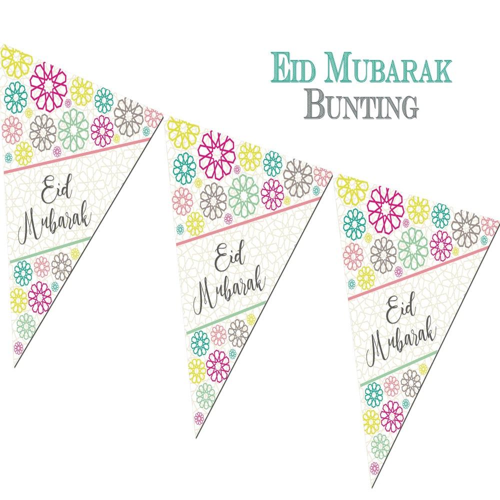 Umrah Banner: Eid Mubarak Bunting Geo By Islamic Moments
