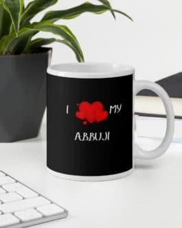 I Love My Abbuji Black Glossy Mug
